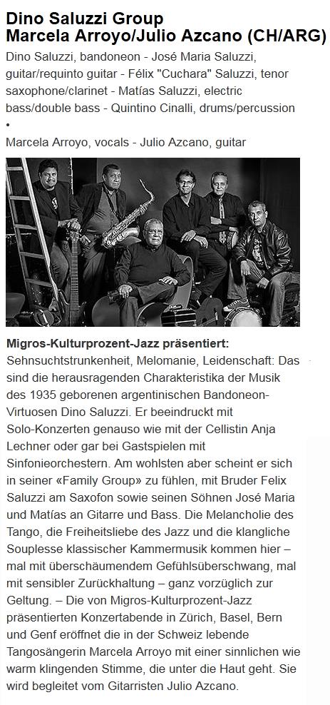 Konzerte Saluzzi 2015