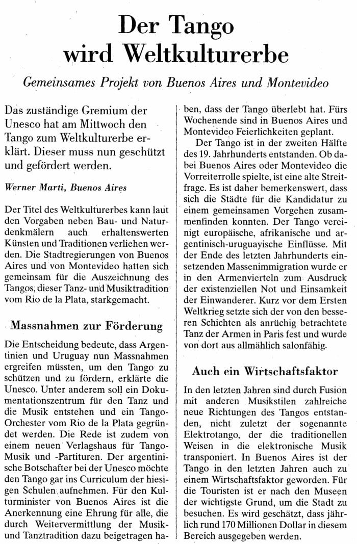 Artikel aus NZZ vom 1.10.2009